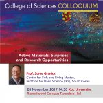 SCIENCE COLLOQUIUM by Steve Granick