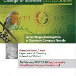 College of Sciences Colloquium – Avian Magnetoreception: A Quantum Compass Needle